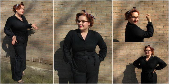 plus size jumpsuit collectif collage 2