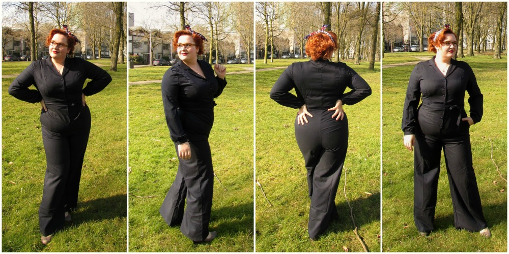 plus size jumpsuit collectif collage