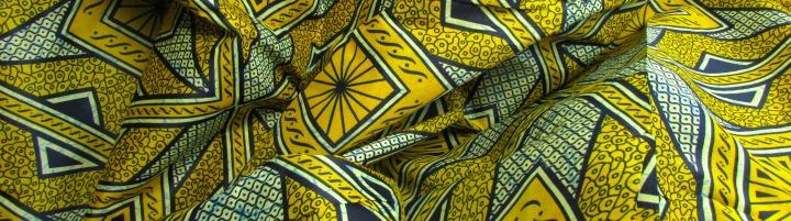 gele afrikaanse stoffen Gambia