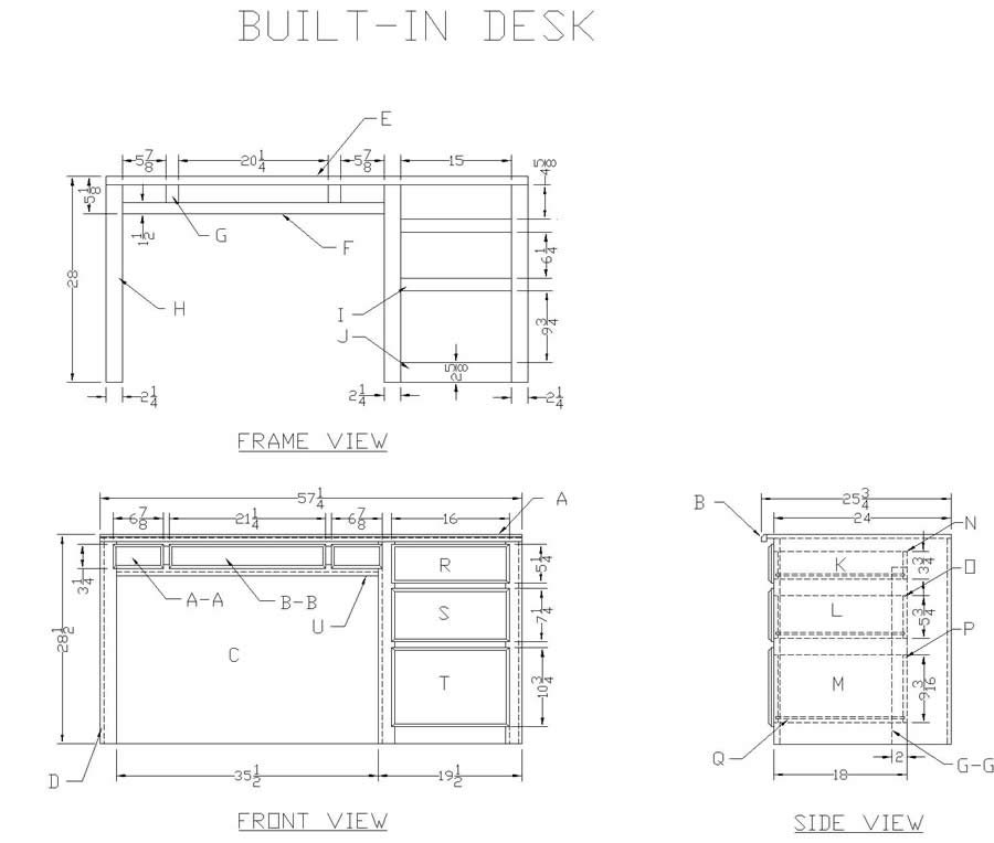 desk plans woodworking free