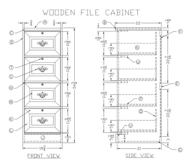 ... Make a Wooden File Cabinet - Woodworking Plans at Lee's Wood Projects
