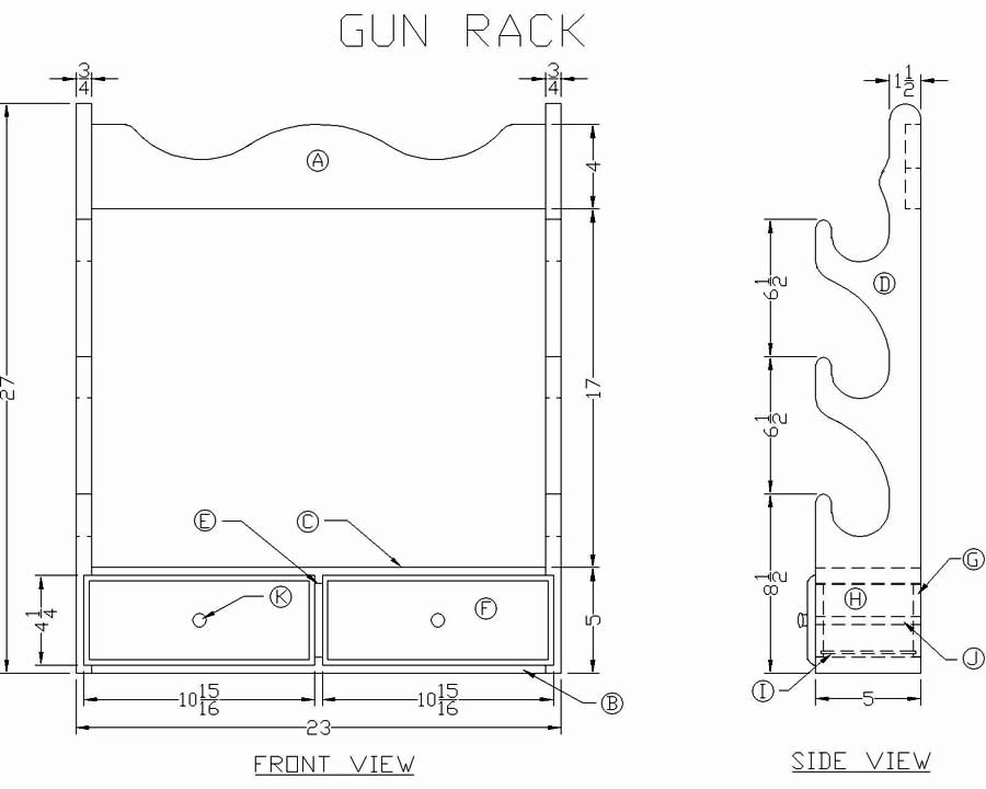 Rifle Display Rack Plans
