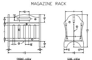 Technical Information for Building a Building a Wooden Magazine Rack