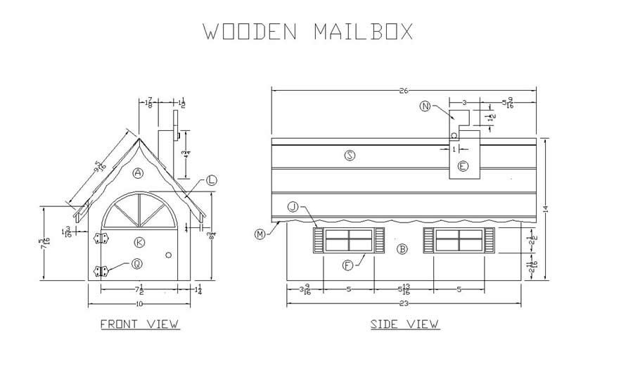 woodworking plans mailbox