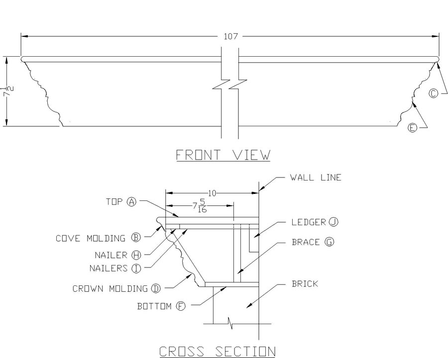 free fireplace mantel plans
