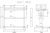 Free Quilt Rack Woodworking Plan from Lee's Wood Projects