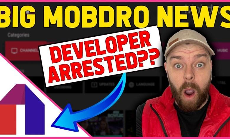 BIG MOBDRO NEWS   Mobdro Developer arrested.......This is BIG!!!