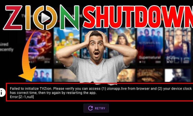 [BREAKING NEWS] TVZION APP SHUTSDOWN (TVZION FAILED TO INITIALIZE)