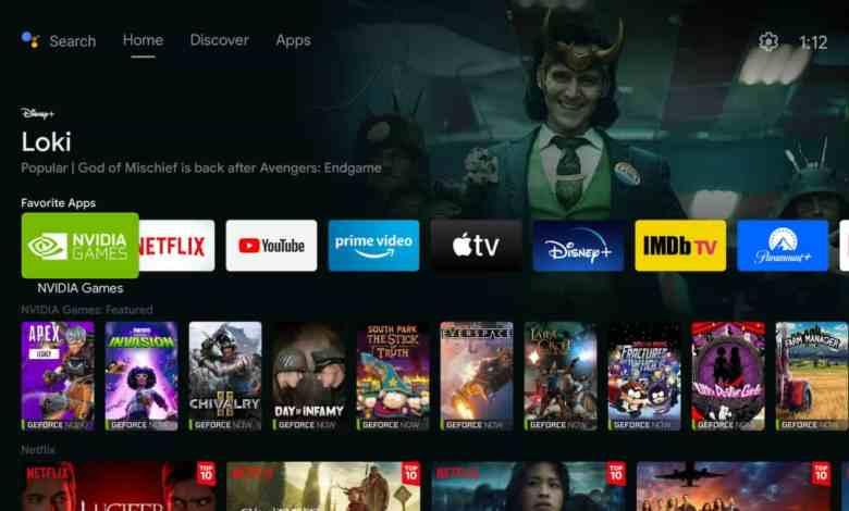 New Discover Tab on Nvidia Shield