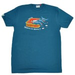 Tee-shirt Requin Bulldog Bleu