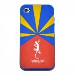 Protection iPhone silicone - Réunion Flag - L'effet Péi