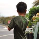 T-shirt sourire tranche papaye - dos