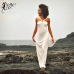 Robe longue Uma - Blanche - L'effet Péi Réunion