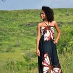 Robe noire Papillon - L'effet Péi Réunion