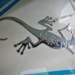 Sticker Bossing 3D Margouillat L'effet Péi sur la Ducati Panigale