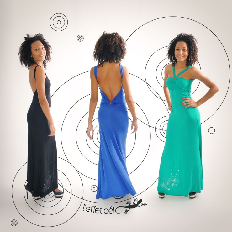 Robes longue Uma - Dos nu