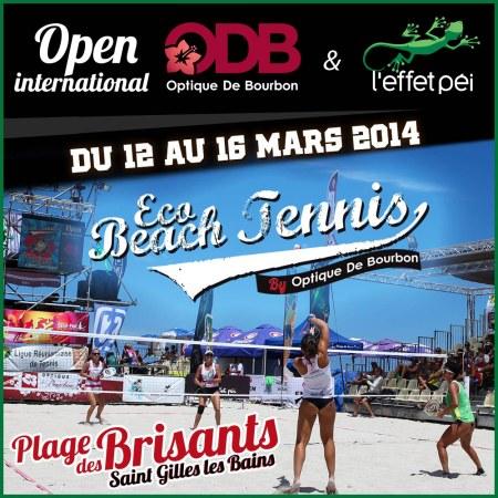 Eco Beach Tennis - Open International Optique de Bourbon L'effet Péi