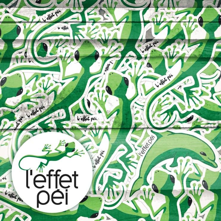 Stickers Margouillat L'effet Péi - dauphin 1er avril