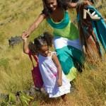 Maman et sa fille en L'effet Péi