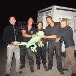 Team Sécurité Sakifo avec la mascotte