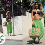 Bikini, sarouel femme et sac pattes de margouillat L'effet Péi - Rue Saint-Leu - île de la Réunion