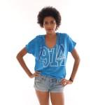 T-shirt femme Capuche Hip 974- Bleu