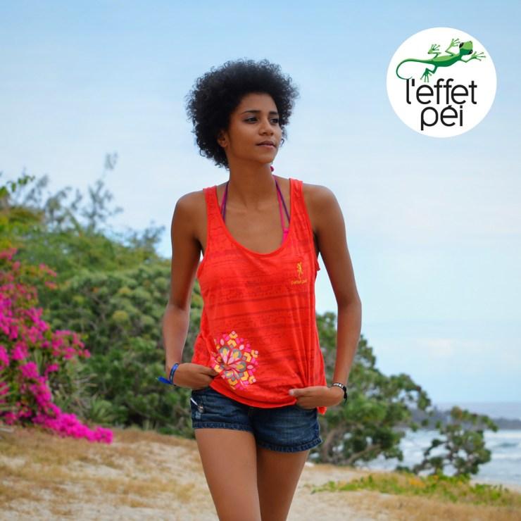 Top femme Cléo - plage île de la Réunion