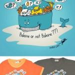 Baleine or not baleine - tee-shirt adulte et enfant