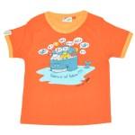 Baleine or not baleine - tee-shirt enfant orange