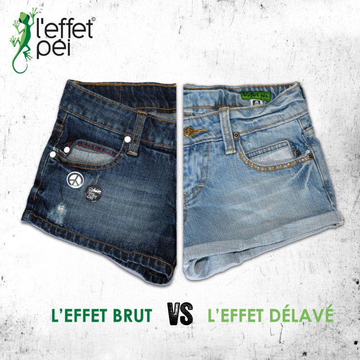 Shorts Jeans Femme - Janis Badge et brodé - L'effet Péi