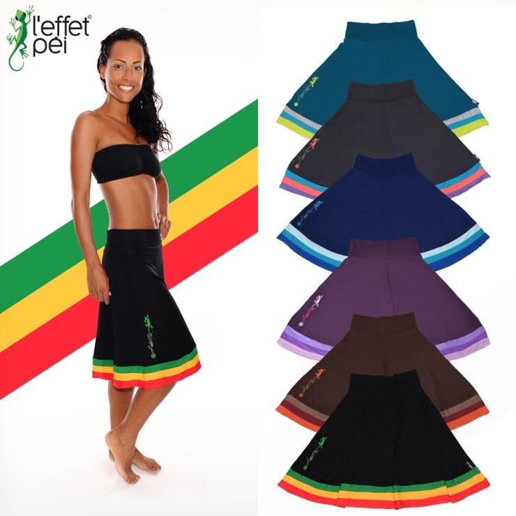 Jupe Spania - Tricolore - Vert Jaune Rouge - Femme - île de la Réunion