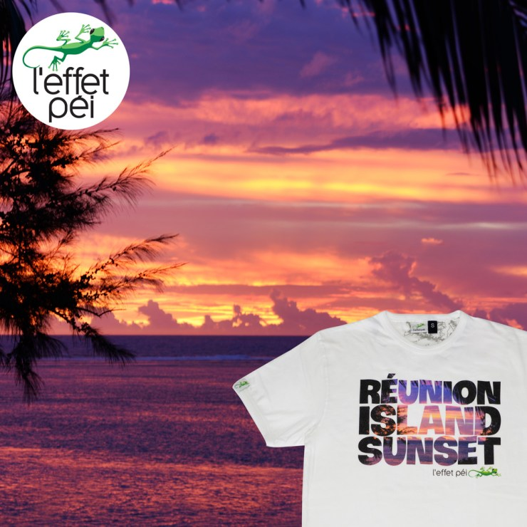 Photo coucher de soleil - T-shirt Homme Réunion Island Sunset