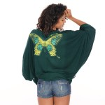 Top Katell Papillon - vert