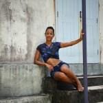 Top femme Cache-Cœur Nini - Phare de Sainte-Suzanne - île de la Réunion