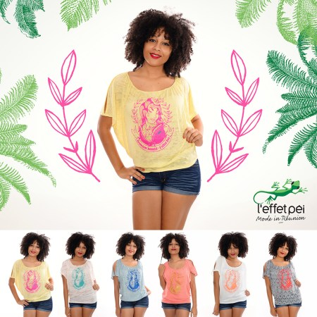 17b47a25430 Tee-shirt Femme Dalida - Mode in Réunion