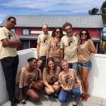 L'équipe du Sakifo en T-shirt L'effet Péi - Super Sakifo 2017