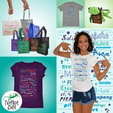 T-shirt et sac City - Réunion Island