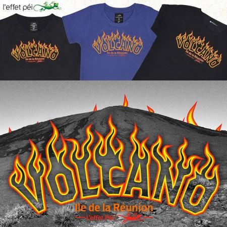 T-shirt Volcano - Piton de la Fournaise - île de la Réunion