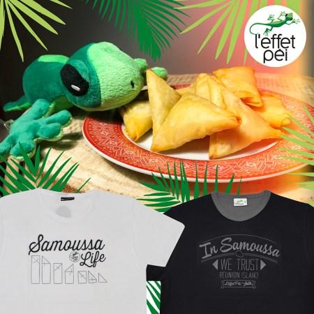 T-shirt Samoussas - Île de la Réunion