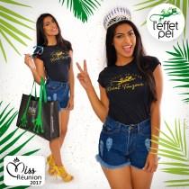 """Audrey Chan Pao Kan - Miss Réunion 2017 - nous présente le t-shirt """"Créole un jour"""" Kréol Touzour !"""