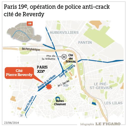 infographie Paris, cité Reverdy
