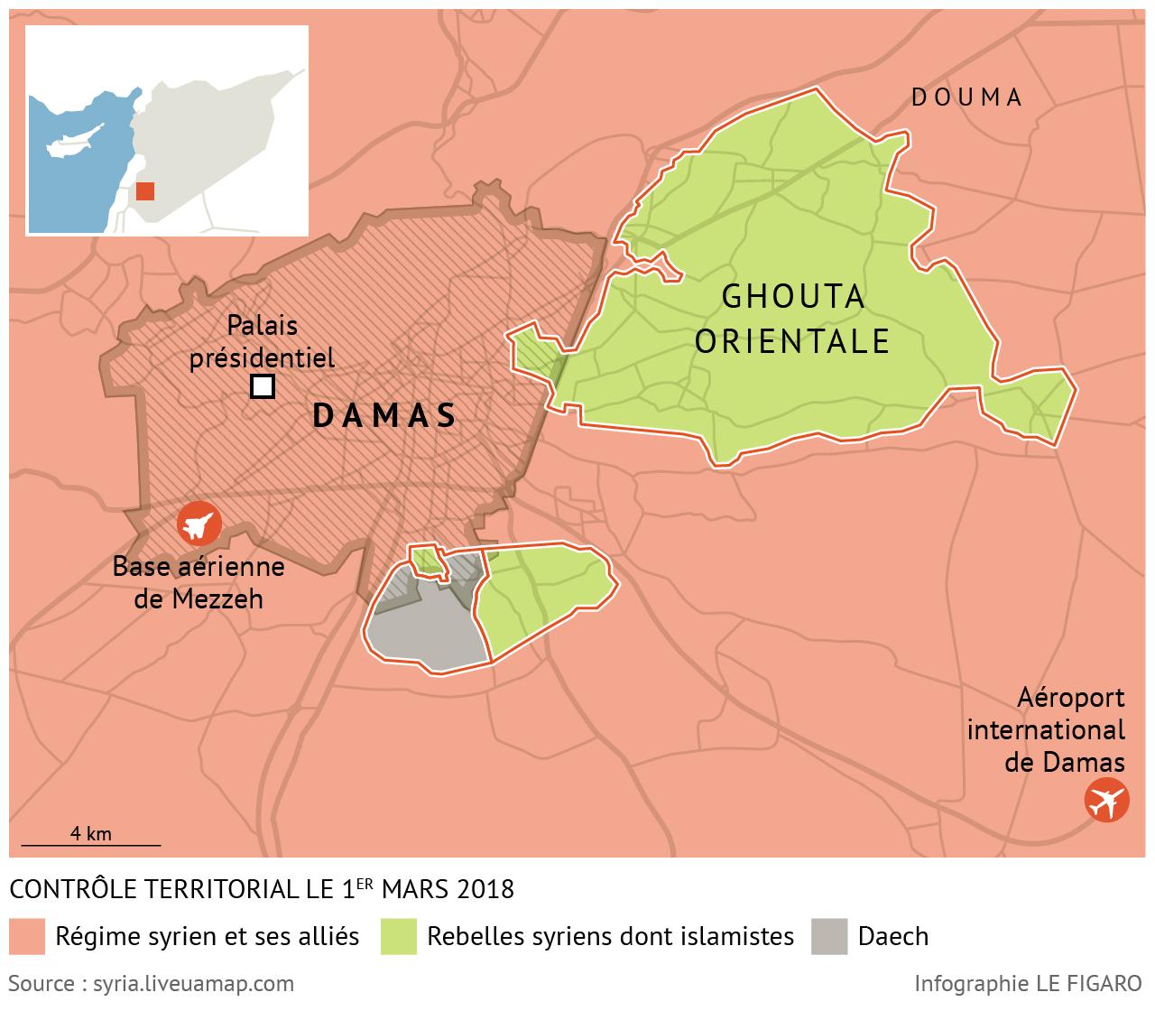 combats entre le régime syrien et les rebelles dans la goutta orientale