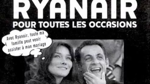 sarkozy bruni ryan air