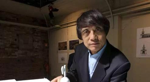 Tadao Ando, en septembre 2007, lors de la présentation de sa maquette pour la Douane de mer.
