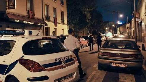 La ville de Saint-Ouen (Seine-Saint-Denis), à l'endroit où a eu lieu une fusillade entre bandes qui a fait deux morts samedi.