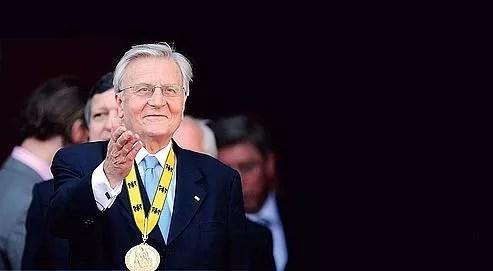 Jean-Claude Trichet a reçu le prix international Charlemagne, jeudi à Aachen, en Allemagne.