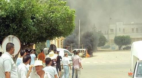 Manifestation à Sidi Bouzid, le 18 juillet.