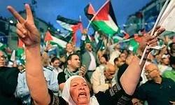 Des milliers de Palestiniens rassemblés à Ramallah ont acclamé le discours d'Abbas