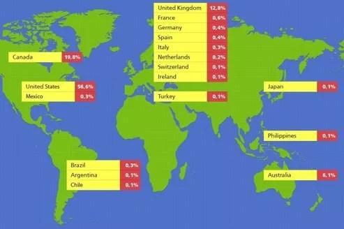 0,6% des Mac infectés par Flashback sont en France.