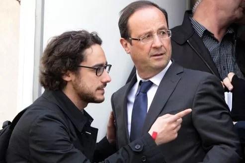 Thomas et François Hollande, en avril dernier.